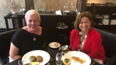 Former ABC managing director Michelle Guthrie had lunch with Melanie Brock on Wednesday.