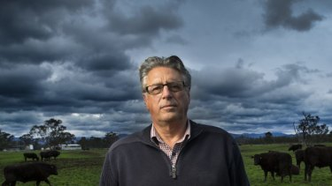 David Blackmore on his cattle property near Alexandra.