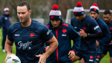 Star-studded: Boyd Cordner leads a roll call of big names with the Roosters.