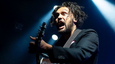 David Le'aupepe of Gang of Youths at the Enmore Theatre in Sydney.
