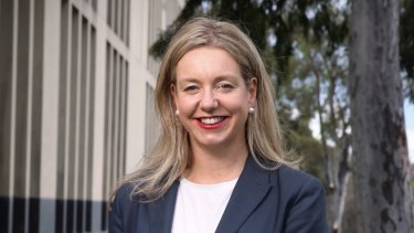 Bridget McKenzie outside Parliament House.