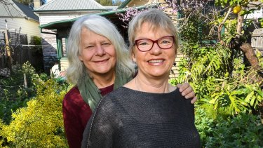 Greens MP Janet Rice with her wife Penny Whetton.