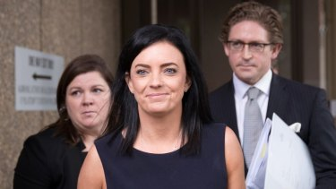 Emma Husar, pictured here in December, is back in court tomorrow for her claim against BuzzFeed Australia.