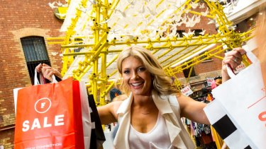 "Shoppers converge on GPT""s Melbourne Central to make the most of the sales"
