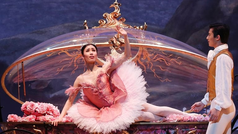 Ako Kondo and Chengwu Guo, seen here in The Australian Ballet's <i>Sleeping Beauty</i>,  are two of the dancers in the Gala.
