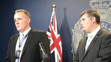 Detective Inspector Mark Hogan and Police Minister Mark Ryan