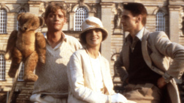 Sebastian and his famous bear Aloysius in Brideshead Revisited.