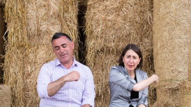 Deputy Premier John Barilaro, photographed with Premier Gladys Berejiklian during the election campaign.