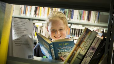 Jeff Kinney's Diary of a Wimpy Kid series   remains a much borrowed favourite.