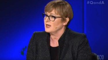 Senator Linda Reynolds on ABC TV's Q&A.