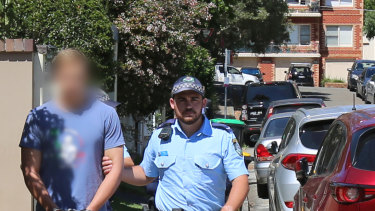 Kyle Daniels is arrested at his parents' Balgowlah home last week