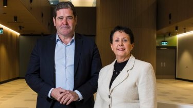 Deborah Latta Pictured Here With Healthscope Chief Executive Gordon Ballantyne Has Resigned As The