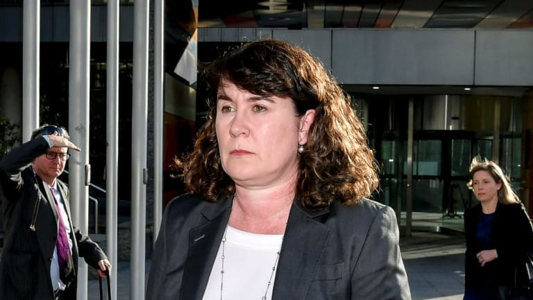Helen Troup departs the royal commission.