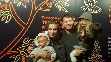 Tahyna MacManus with her husband and two children.