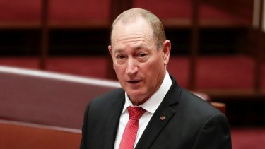 Fraser Anning sparked anger when he cited 'the final solution' in his maiden speech.