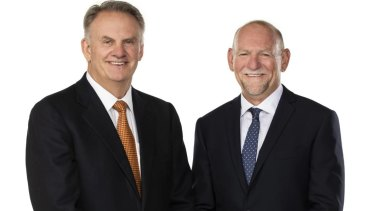 One Nation's NSW leader Mark Latham (left) and his colleague Rod Roberts.