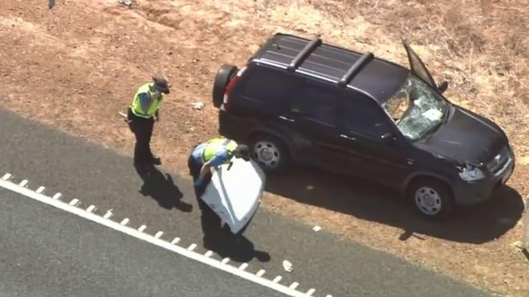 Police retrieved the debris from beneath the Honda SUV.
