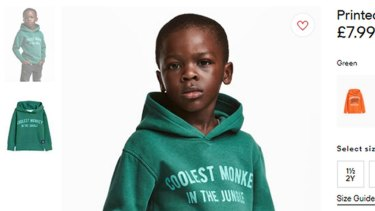 Clothing giant H&M was forced to apologise for this ad.