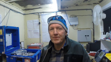 David Etheridge, CSIRO lead scientist on the Hydroxyl project, at Law Dome laboratory in Antarctica.