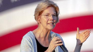 Democratic presidential candidate Senator Elizabeth Warren.