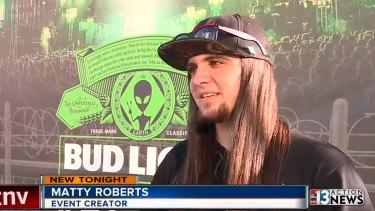 Matty Roberts, Area 51 organiser.