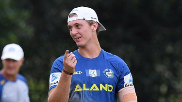 Eels forward Shaun Lane.