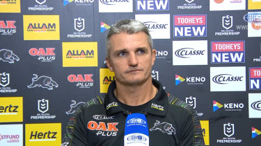 """Ivan Cleary said his encounter with officials during Sunday's match are """"no big deal""""."""