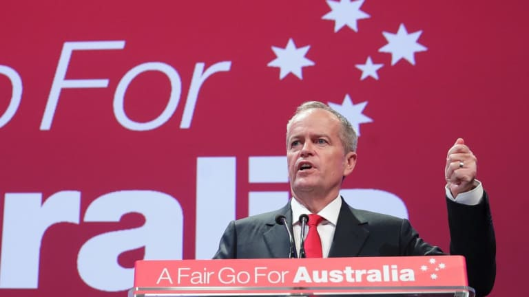 Opposition Leader Bill Shorten at the ALP national conference in December 2018.