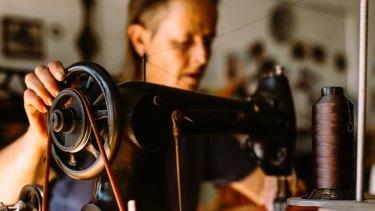 The Apprenticeship - hoemaker Rachel Ayland in her workshop