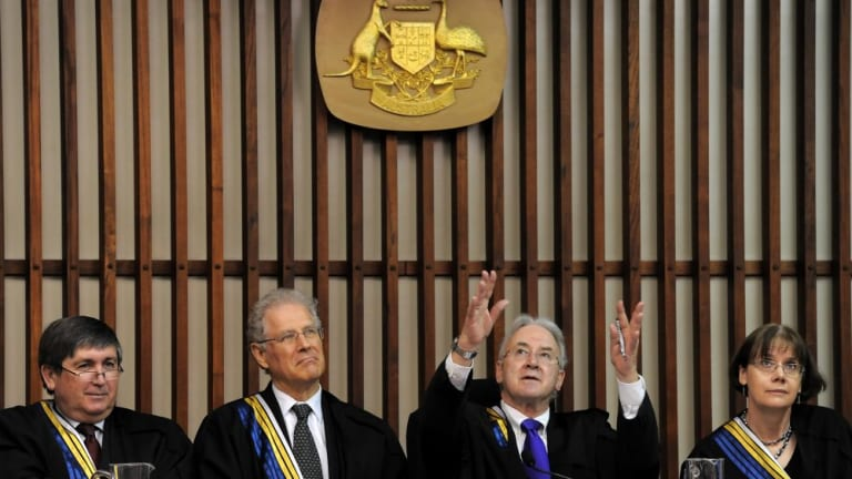 Judges at the ACT Supreme Court.