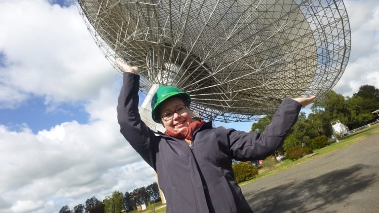 Emily Petroff, at the Parkes radio telescope, has identified the source of mysterious radio bursts – the early opening of microwave ovens.