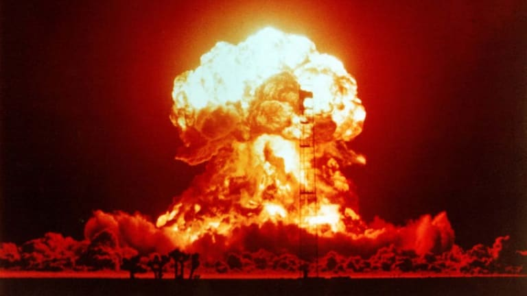 Today's weapons are to 50 times more powerful than those used on Hiroshima and Nagasaki.