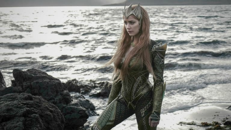 Amber Heard in costume for her new film, <i>Aquaman</i>, which will film on the Gold Coast.