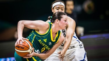 Australian forward Kelsey Griffin top-scored in her Opals debut against Korea on Sunday.