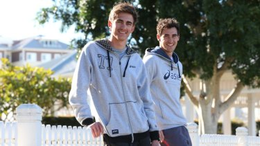 Flying high: Brandon Starc, the brother of Australian cricketer Mitchell, is hoping to win a medal in Glasgow.