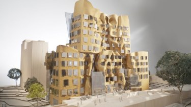 A model of the UTS business school designed by Frank Gehry.