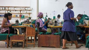 Jeanswest has worked with the Cadling factory in Accra, where staff are paid a living wage