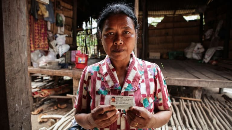 Displaced land owner Sum Tea's son was killed on a sugar plantation.