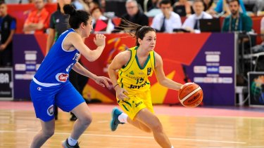 Courting success: Monique Conti in action for the Australian under-17 team.