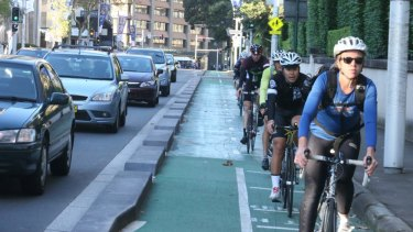 Set to close: the cycleway in College Street.