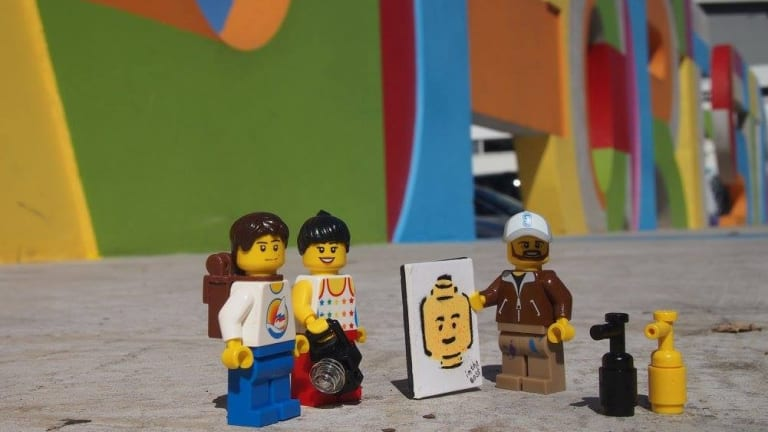 Lego Travellers in Mount Lawley.