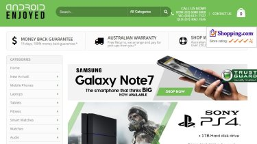 Consumers have been warned not to deal with online retailer Android Enjoyed.