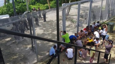 Refugees at the Manus Island regional processing centre have been holding peaceful protests.