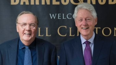 Former US president Bill Clinton, right, and author James Patterson.