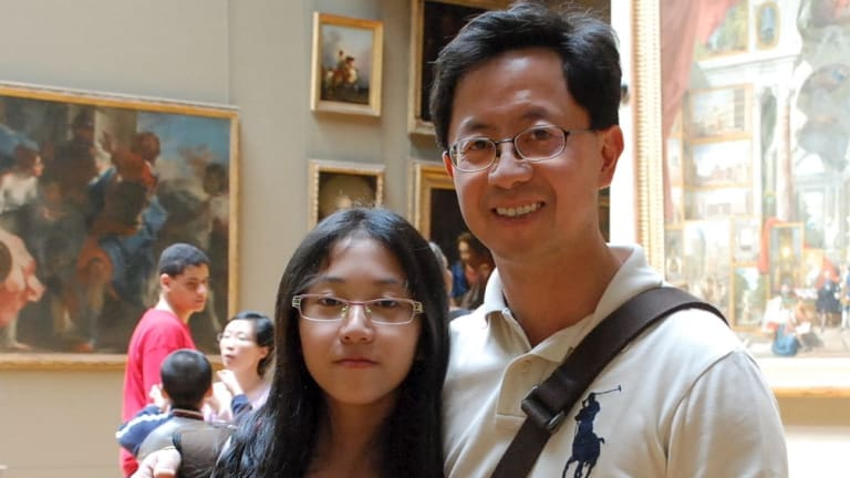 Matthew Ng with his daughter Isabella in London 2010. Isabella died while her father was in jail.