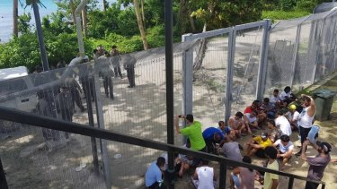 Refugees at the Manus Island regional processing centre.