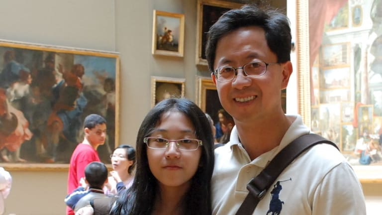 Matthew Ng with his daughter Isabella in London 2010.