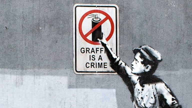 A Banksy mural in New York.