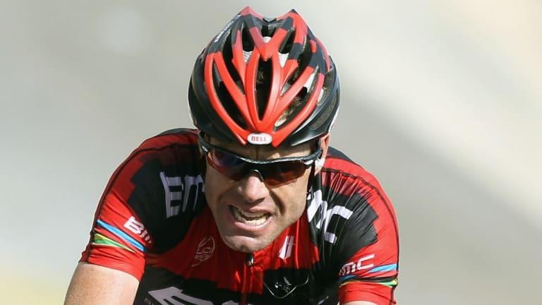 Cadel Evans races in the 2011 Tour de France.