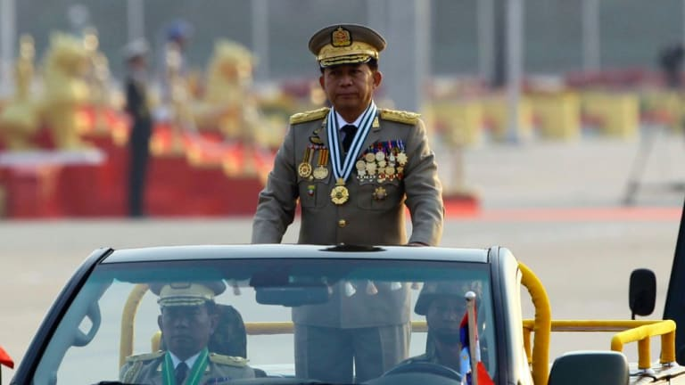 General Min Aung Hlaing said contact was lost at 1.35pm local time.